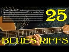25 Blues Riffs -EASY Guitar Lesson ♫ ♪ ♫ ♪