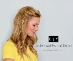 Quick and easy look. Gotta practice my fishtail braid.