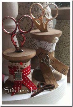 70 Ideas For Sewing Room Accessories Diy Wooden spool crafts Sewing Room Decor, My Sewing Room, Sewing Box, Sewing Kits, Sewing Ideas, Wooden Spool Crafts, Wooden Spools, Sewing Crafts, Sewing Projects