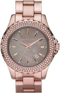 83264d88b17 Michael Kors MK5453 Womens Glitz Rose Gold Watch- 1 year anniversary gift  from my hubby