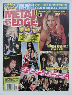 Metal Edge Magazine Always bought 2 so I can use both sides of the posters.