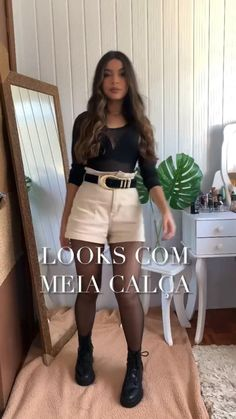 Winter Fashion Outfits, Look Fashion, Girl Fashion, Fashion Tips, Look Office, New Mode, Skirt Outfits, Boot Outfits, Outfits Mujer