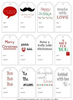 Freebie | Printable Gift Tags from Lara's Vintage – perfect for handmade gifts! | Scrapbooking | CraftGossip.com