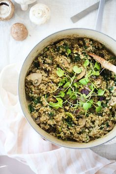Love risotto? This hearty wholegrain version will be your new best friend - deliciously creamy, yet entirely dairy/cheese free! Healthy, vegan, gluten free.