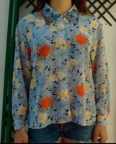 https://www.facebook.com/pages/Any9Sense-Clothing/391374804292247 #camisa #moda #vintage #flores #any9sense