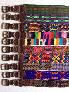 Dog Collar Leather Mexican Texil Large by Bocollarsandleashes