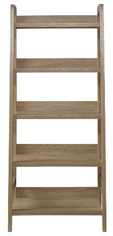 Linon 5 Shelf Bookcase Gray - Linon Home Decor