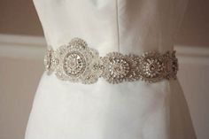 Wedding Dress Sash  Lamas 30 inches  Made to by EnrichbyMillie