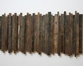 Wood wall sculpture made of old barnwood 48x24x2 by CarpenterCraig