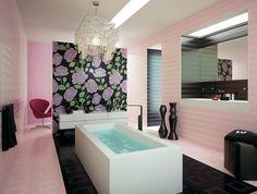 bonito diseño de azulejos color rosa