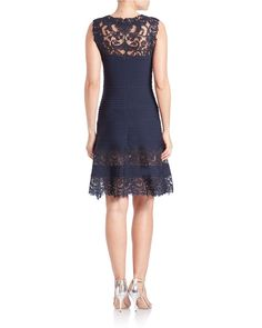 Buy Tadashi Shoji Women's Blue Lace-panel Dress, starting at $423. Similar products also available. SALE now on!