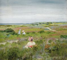 William Merrit Chase - Landscape - Shinnecock Long Island, 1896 at Princeton Art Museum Princeton NJ   by mbell1975