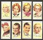 SIGNED PORTRAITS OF FAMOUS STARS GALLAHER TOBACCO CIGARETTE CARD 1935 - 1935, card, Cigarette, FAMOUS, GALLAHER, Portraits, SIGNED, Stars, Tobacco