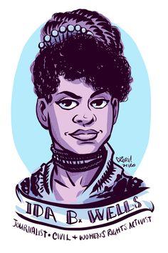 #100Days100Women Day 27: Ida B. Wells Crusading journalist & civil rights activist   http://www.biography.com/people/ida-b-wells-9527635#later-career …