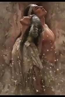 Native American Wolf, Native American Paintings, Native American Pictures, Beautiful Love Pictures, Beautiful Gif, Romantic Pictures, Beautiful Artwork, Native American Spirituality, Motion Images