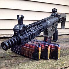 AR chambered in 458 Socom Zombie Weapons, Weapons Guns, Guns And Ammo, Airsoft, Ar Platform, Fire Powers, Military Guns, Assault Rifle, Cool Guns