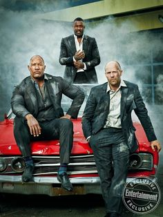 See exclusive photos of the stars of 'Fast & Furious Presents: Hobbs & Shaw': Dwayne Johnson, Jason Statham, and Idris Elba from EW's cover shoot. Fast And Furious, The Furious, The Rock Dwayne Johnson, Rock Johnson, Dwayne The Rock, Idris Elba, Jason Statham, Vin Diesel, Estilo Bad Boy