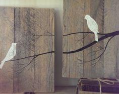 oiseaux de palette wall art