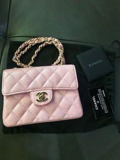 d3eb39b357c3 Authentic Chanel Beige Ivory Caviar Square Mini Flap Bag GHW Retail  $3200+Tax | eBay