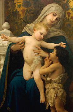"""Madonna, The Infant Jesus and Saint John the Baptist"", William Adolphe Bouguereau."