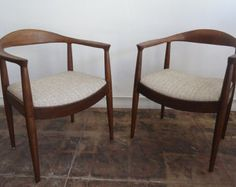 Pair of Mid Century Sculptural Arm Chairs