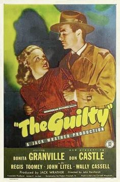 The Guilty (1947) is a film noir based on a story by Cornell Woolrich.The film tells the story of two roommates. One of the men, who suffered a head injury during the war, meets a girl and begins to date her. When he finds out she's dating other men around town he dumps her and starts dating her sweet twin sister, who ends up missing and later is found murdered on an apartment rooftop. Her boyfriend is accused of the crime