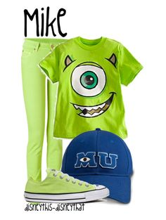 Disneybounding as Mike Wazowski (May do this for Halloween -JS)
