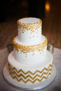 Vanilla Bake Shop - gold art deco confetti