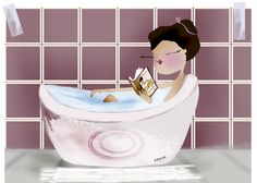 quenalbertini: Relax post work by Herminia Esparza Girl Reading Book, Reading Art, Woman Reading, I Love Reading, Happy Pictures, Happy Pics, Relax, Book People, Social Activities