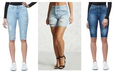 The Bermuda Knee Length Denim Shorts Trend | The Jeans Blog