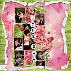 BIG DAY: My niece's wedding day.  I made this page with Pop of Life part of the GDS Mixology January-February 2016 by Altered Amanda's Studio, available at Go Digital Scrapbooking here: http://www.godigitalscrapbooking.com/shop/index.php?main_page=index&manufacturers_id=148 I also used: Art Journal Style Pocket Template no. 1 by Altered Amanda's Studio at GDS.