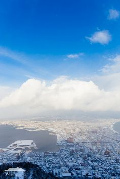 Blue sky and snow clouds.(View from Mt Hakodate.) https://www.facebook.com/hakodatepictorial