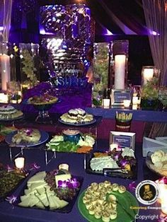 The lighting at this 50th birthday party was fabulous!