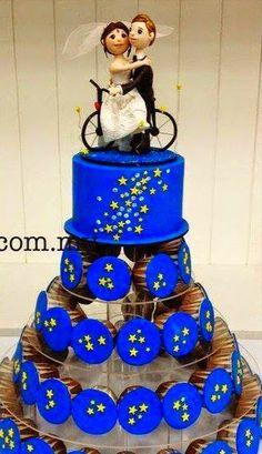 nuevas tendencias en decoracin de tortas tortas de boda en color azul