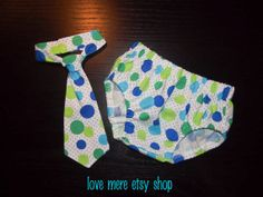 Blue Green Dot Baby Boy Smash Cake Outfit Necktie and by LoveMere, $26.00