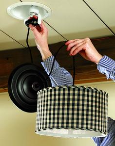 Problem Solvers: Can-Light Conversion Electrical Symbols, Home Safes, Can Lights, Pendant Lighting, Home Improvement, Tips, Home Improvements, Pendant Lights, Interior Design