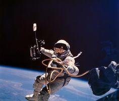 Gemini 4 astronaut Edward H. White during  America's first space walk