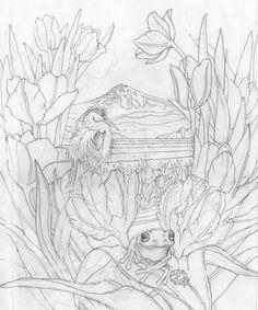 Bergsma Gallery Press::Paintings::Originals::Original Sketches::2014/Rainbow Valley - Original Sketch