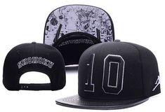 a0129538cab Men s Nike Air Jordan x Slam Dunk Shohoku No 10 Leather Brim Snapback Hat -  Black - Click Image to Close