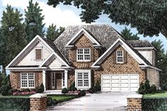 Traditional Style House Plan - 4 Beds 2.5 Baths 1874 Sq/Ft Plan #927-7 Exterior - Front Elevation - Houseplans.com