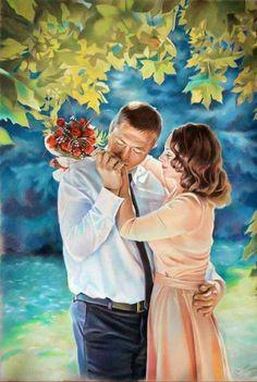 Couple Art, Wedding Art, Couples, Painting, Painting Art, Paintings, Romantic Couples, Painted Canvas, Couple