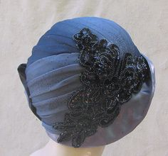 Custom Order of draped Cloche Hat back view | This is the ba… | Flickr