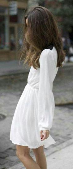 #spring #fashion   Romantic Little White Dress   Something Navy
