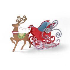 Sleigh Favor Box & Reindeer by Beth Reames - Scrapbook.com