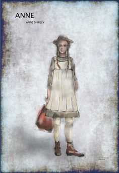 Anne with an E NETFLIX series / Anne the series CBC, Lookbook of Costume design, concept, sketches, photos of characters & costumes - Anne of Green Gables