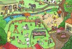 Praatplaat boerderij - lente