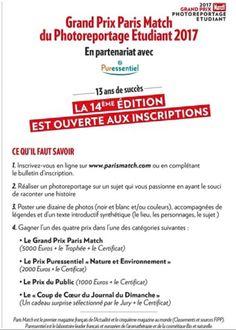 Pour ceux qui souhaitent s'inscrire au concours photos, il n'est jamais trop tard!!Voici les modalités d'inscription à cette sympathique manifestation! #concoursphotos #ParisMAtch #wibs #écoledecommerce
