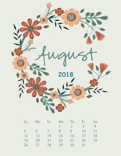 August 2018 iPhone Calendar Wallpaper