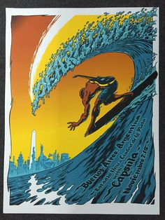 Artist Edition Pearl Jam Damian Fulton Buenos Aires Argentina Poster Release