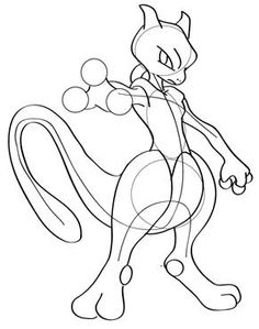 fat pokemon drawing   How to Draw Mewtwo - Learn to draw Mewtwo and other Pokemon Step by ...